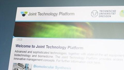 Foto der Joint Technology Platform Webseite