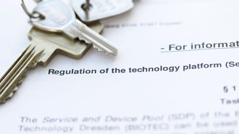 Regulation or the technology plattforms on a table