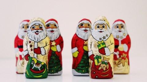 Foto: Schokoladenweihnachtsmänner