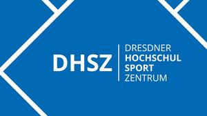Grafik: blaues Quadrat mit weißen Linien und dem Schriftzug DHSZ in der Mitte