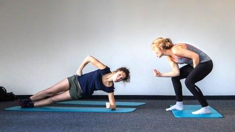 Fitnesstraining zu zweit