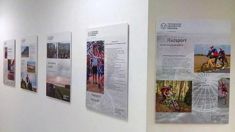 Die Thementafeln Radsport sind im Radsportstützpunkt ausgestellt.