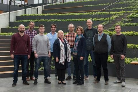 Gruppenfoto der Kontaktstelle Forschungsdaten