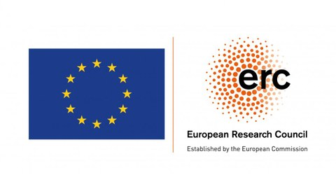EU Flagge mit ERC Logo