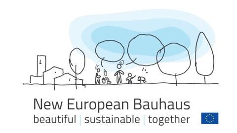 gezeichnetes Logo der Iniiative New European Bauhaus
