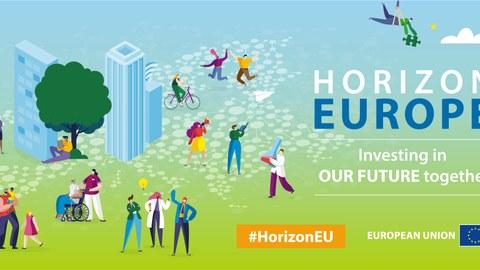 Schriftzug Horizon Europe