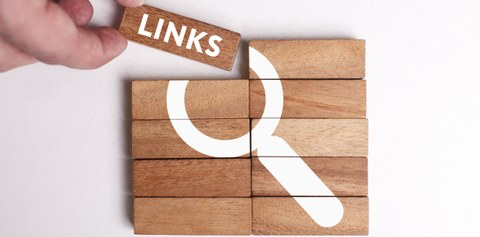 Business, Technology, Internet and neman shows the word: Links