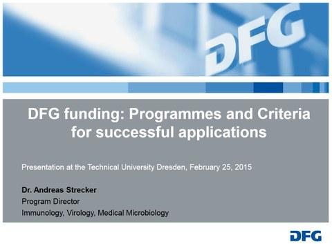 DFG Startfolie Dr. Strecker