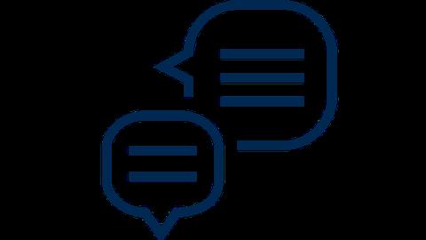 TUD Icon Dialog | Zwei Sprechblasen