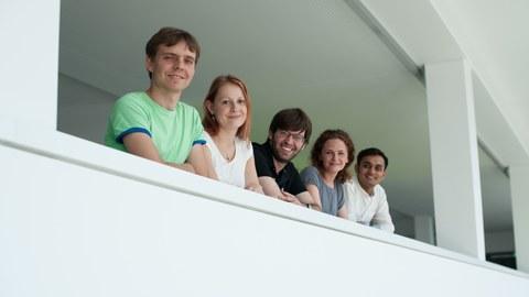 Doktoranden auf dem Balkon