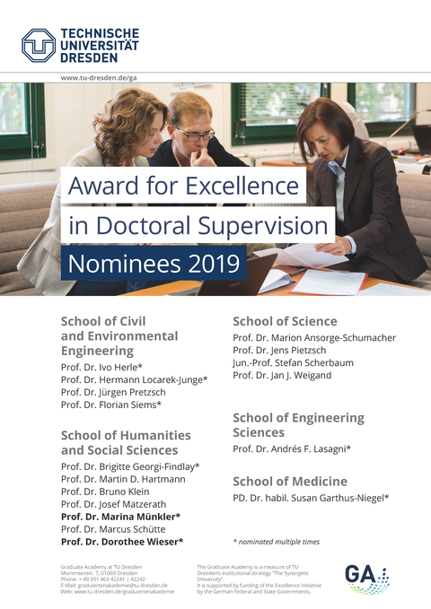 GA Supervision Award _ Nominees