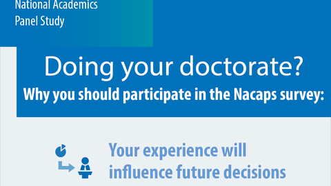 Nacaps banner: Doing your Doctorate? Why you should participate in the Nacaps survey.