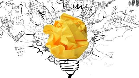 Yellow paper lightbulb