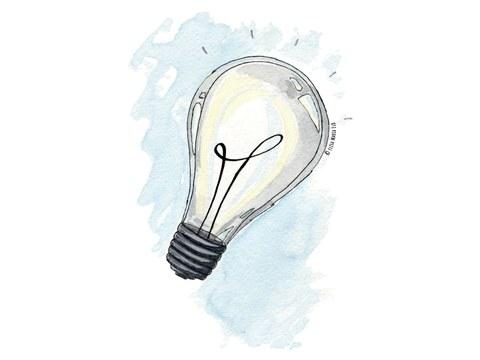 Zu sehen ist die Illustration einer Glühlampe.