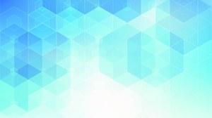 Grafische Darstellung von Dreiecken, die unterschiedliche Blautöne haben und sich zu vielen aneinandergereihten Sechsecken zusammensetzen.