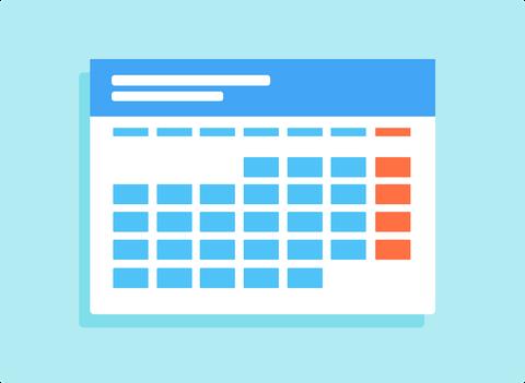 Zu sehen ist ein grafisch dargestellter Wochenplan.
