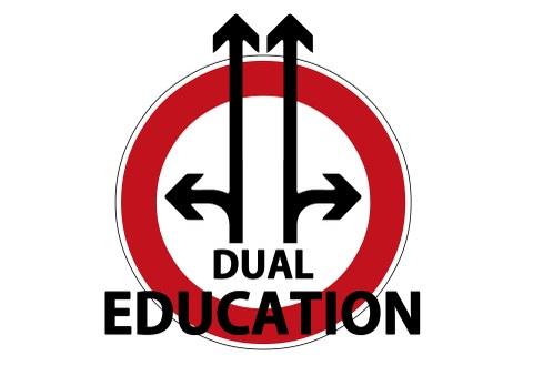 Dual Education Hinweisschild