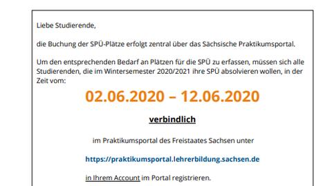 Registrierung SPÜ WiSe 20-21