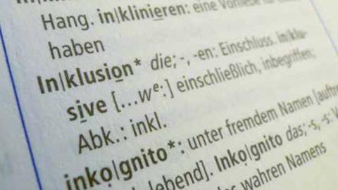 Inklusion im Fremdwörterbuch: Inklusion heißt u.a. Einschluss