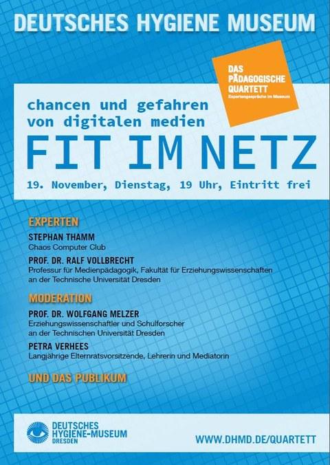Plakat Pädagogisches Quartett Inklusion Fit im Netz
