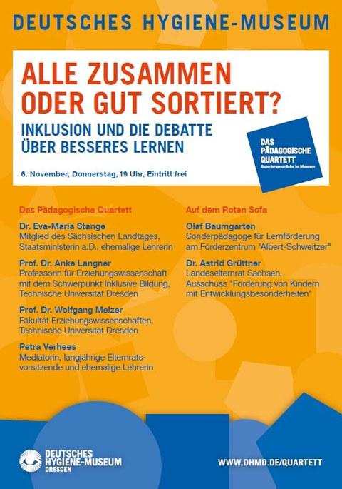 Plakat Pädagogisches Quartett Inklusion