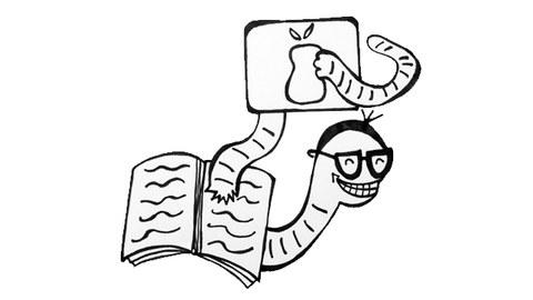 Bücherwurm trifft Tablet