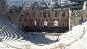 Foto eines antiken Theaters in Athen