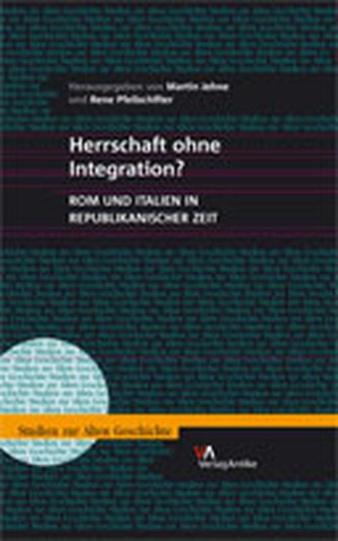 """Buchcover zum Sammelband """"Herrschaft ohne Integration?"""", Berlin 2006."""