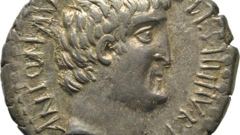 Antoniusbüste auf einem Denar