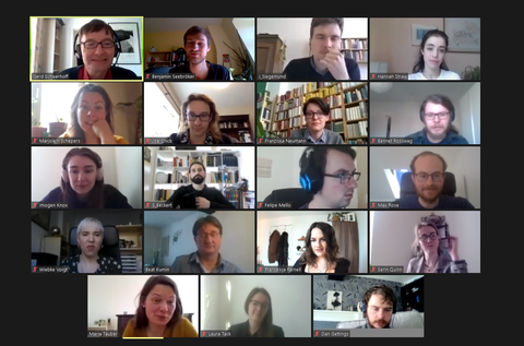Screenshot of the Zoom call with all workshop participants