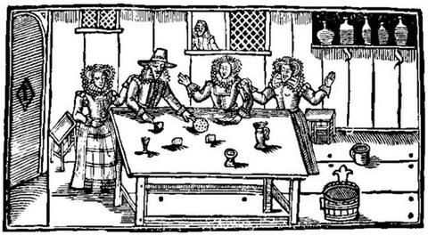 A seventeenth-century tavern scene [from the Roxburgh Ballads]