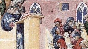 Bild von Laurentius de Voltolina: Henricus de Alemannia con i suoi studenti