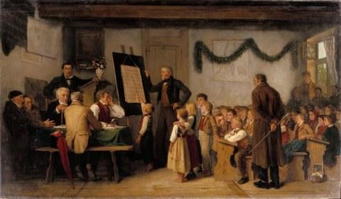 Albert Anker, Das Schulexamen (1862)