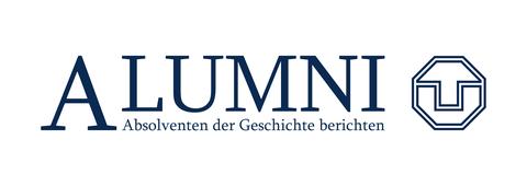 Alumni Logo - Absolventen der Geschichte berichten