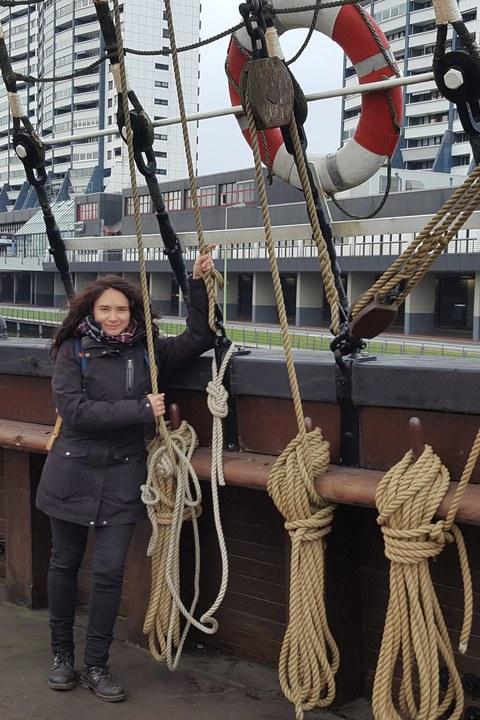 "Jasmin Hettinger auf dem Museumsschiff ""Seute Deern"""