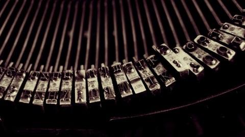 Nachaufnahme Schreibmaschine