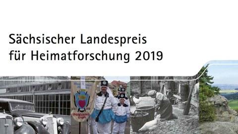 Ausschnitt Plakat zur Ausschreibung des Sächsischen Sächsischer Landespreises für Heimatforschung 2019