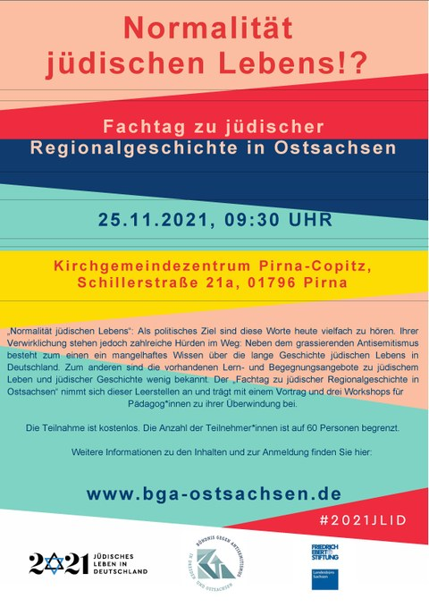 Plakat zum Fachtag jüdische Regionalgeschichte in Ostsachsen