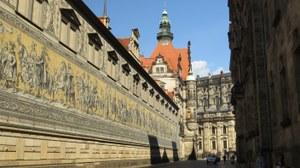 Am Fürstenzug in Dresden