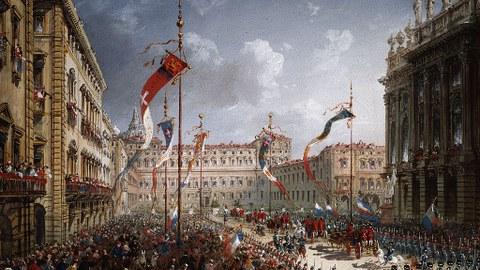 Einzug Vittorio Emanueles II. in Turin