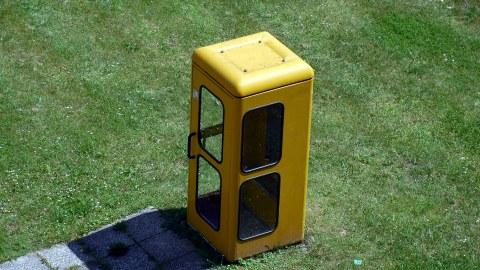 Gelbe Telefonzelle