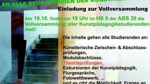 Plakat Vollversammlung