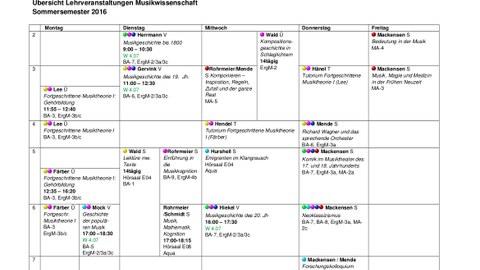 Vorlesungsplan