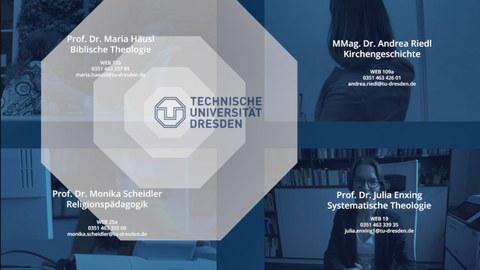 Die vier Fachbereiche des theologischen Instituts.