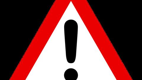 Ein Achtungszeichen wird dargestellt.