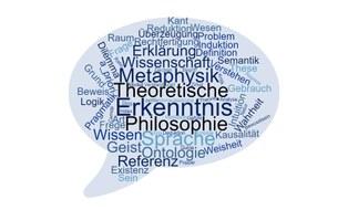 Wortwolke zentraler Begriffe aus der theoretischen Philosophophie