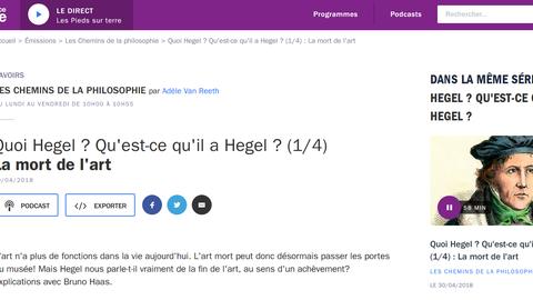 Les Chemins de la philosophie - Webseite