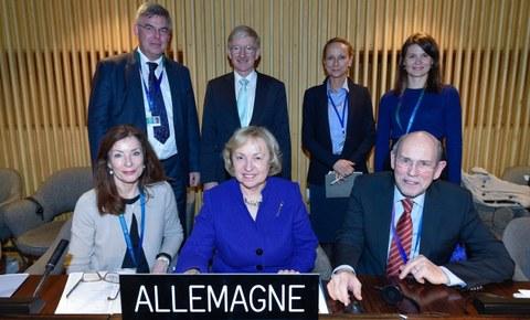 Delegation der 38. Generalkonferenz der UNESCO
