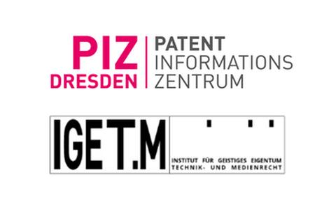 Schriftzug Patentinformationszentrum und Institut für Geistiges Eigentum, Wettbewerbs- und Medienrecht