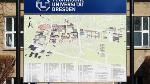 Tafel des Campusplans